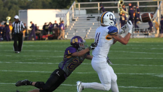 Ontario's Ethan Pensante, pictured here against Lexington, scored his second special team touchdown in as many weeks in Ontario's Week 2 game against Highland.