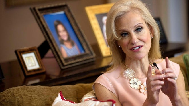 Kellyanne Conway is interviewed by Record columnist Mike Kelly at her Alpine home on March 12, 2017.
