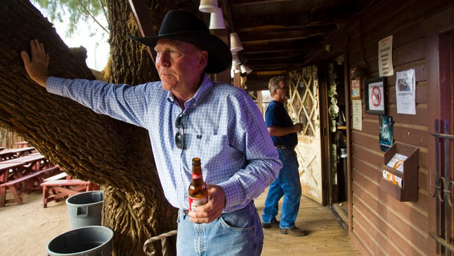 Jim Osborne relaxes this week at Greasewood Flat saloon in Scottsdale. The property may become home to a Sonoran Desert discovery center.