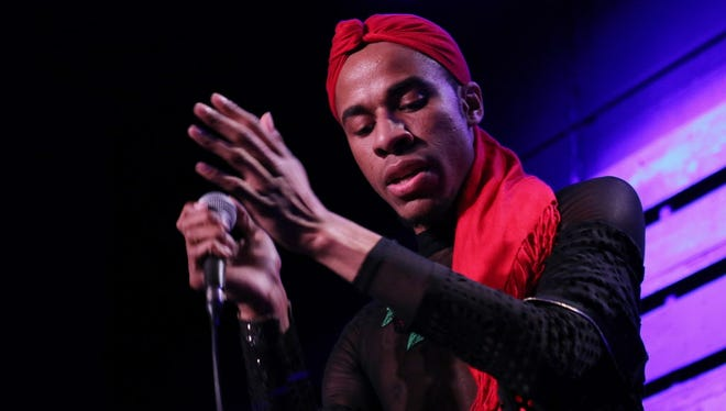 Singer Lex Allen performs in Chill on the Hill in Humboldt Park Tuesday.