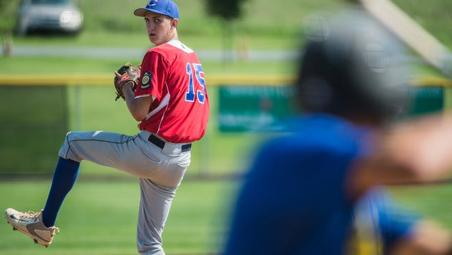 Isaac Blatt scattered six hits in a nine-inning complete game effort that lifted Campbelltown to a 2-1 victory over Linglestown on the first day of the Region 4 Legion Baseball tournament at Earl Wenger Field on Saturday.