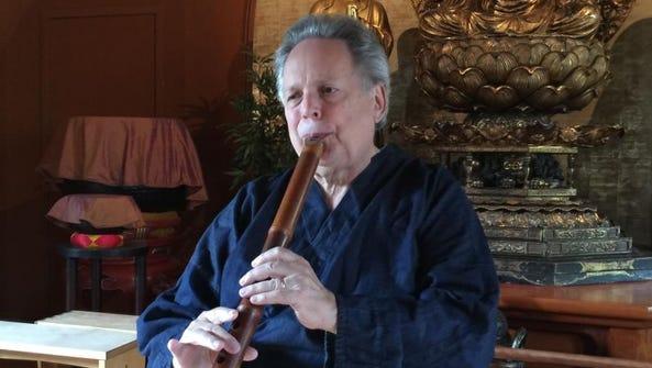 Shakuhachi grand master Ronnie Nyogetsu Reishin Seldin