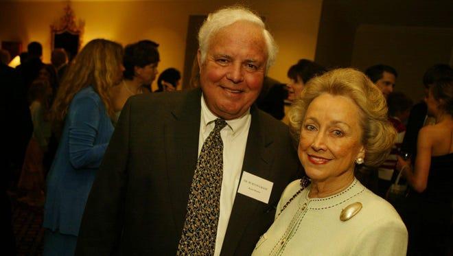 From left, Dr. Burton Grant and Gloria Grant in 2003.
