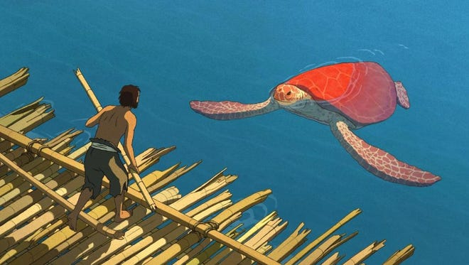 "Reptile style: Castaway meets terrapin in ""The Red Turtle."""