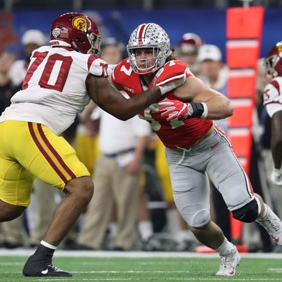 Ohio State defensive end Nick Bosa makes a beeline