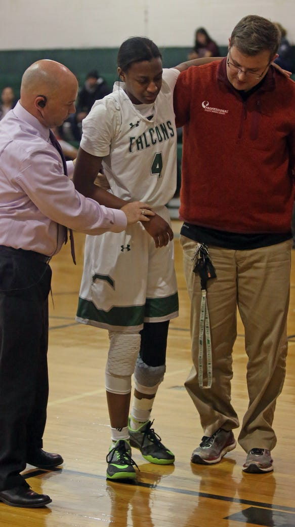 Woodlands girls basketball player Teisha Hyman was