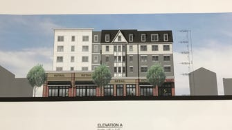 Accordia Realty presented revised drawings on Thursday for an apartment and retail project on Wanaque Avenue in Pompton Lakes.