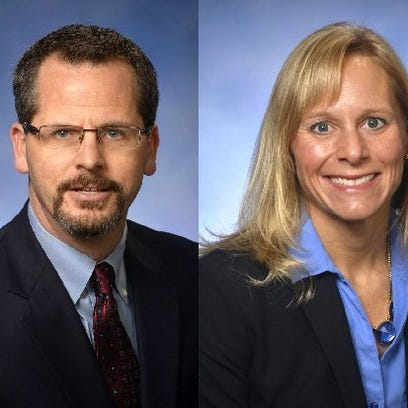 Reps. Todd Courser, R-Lapeer and Cindy Gamrat, R-Plainwell