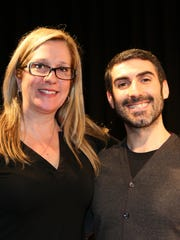 Kelley Morse, choral music director, and John Catoliato, the Music Department chair, at Edgemont High School.