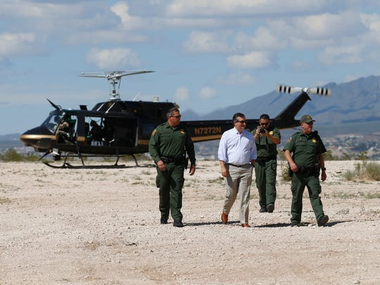U.S. Sen. Ted Cruz took an aerial tour of the border on Thursday near Sunland Park, New Mexico.