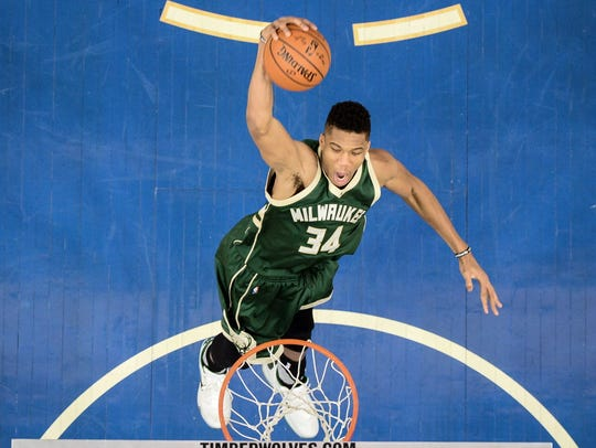 Giannis Antetokounmpo is a star for the Bucks.
