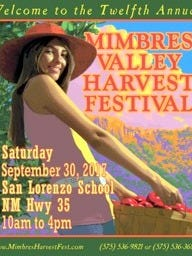 Mimbres Valley Harvest Festival poster