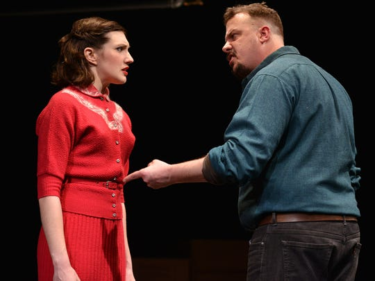 """Katy Slaven and Patrick Du Laney star in Riverside Theatre's """"A View from the Bridge."""""""