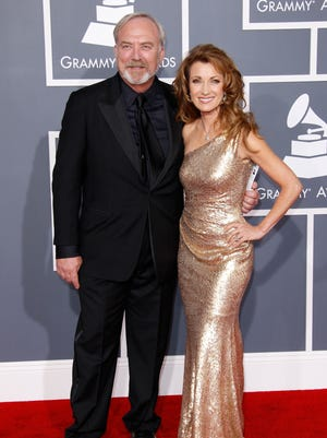 Jane Seymour and James Keach arrives at the 2012 Grammy Awards at the Staples Center in Los Angeles,