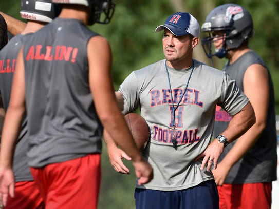 Hurley football coach Greg Tester says of the Confederate
