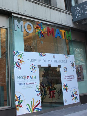 An upcoming Independence School Events features a traveling exhibit from the National Museum of Mathematics (pictured).