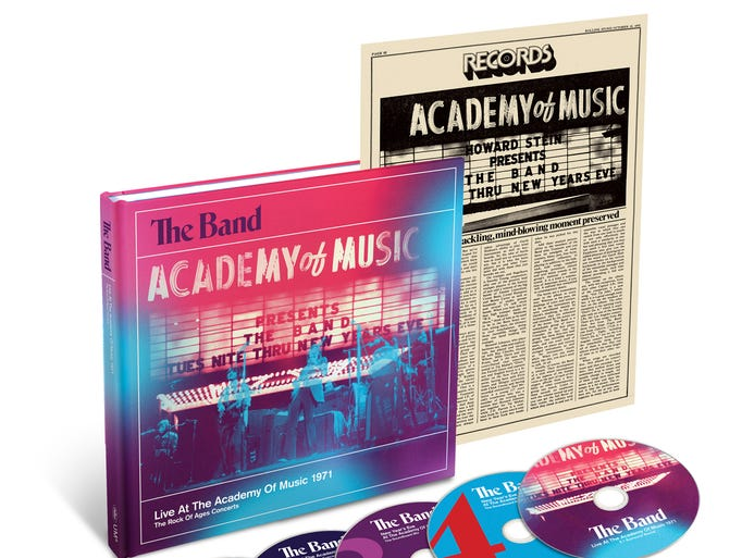 THE BAND, 'Live at the Academy of Music 1971' (Capitol, four CDs/one DVD, $62)   The four legendary New York year-end concerts are compiled for the first time.
