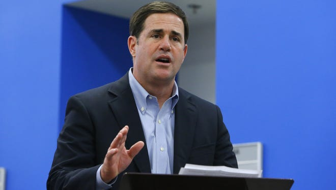 Gov. Doug Ducey has authorized Arizona National Guard members to carry firearms while on duty in response to last week's shootings at military facilities in Tennessee.