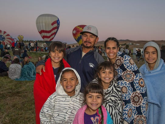 The Hernandez family at the Great Reno Balloon Races