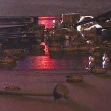 An 18-wheeler and a car collided near Wirt Rd, spilling hundreds of beers on the Katy Freeway.