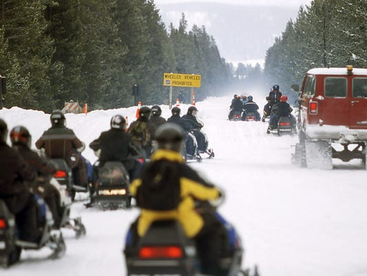 yellowstone snowmobile