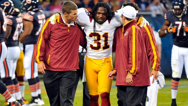 New Giants S Brandon Meriweather, formerly of the  Redskins, can be his own worst enemy at times.