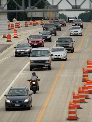 Northbound traffic along U.S. 41 in Green Bay.