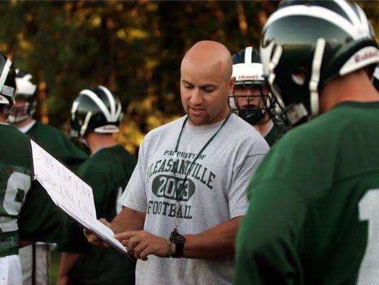 Pleasantville football coach Tony Becerra