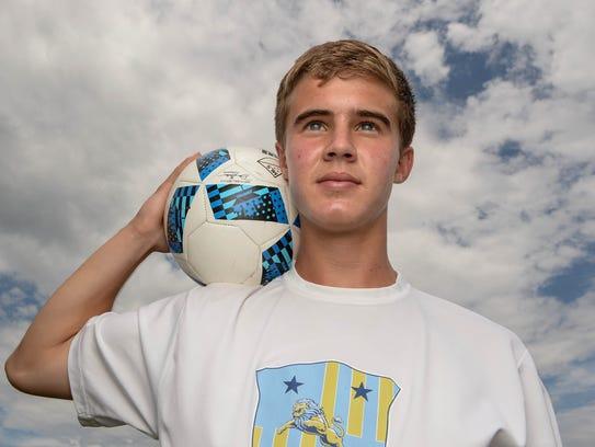John Martin, D.W. Daniel High School midfielder, is