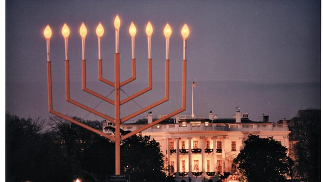The National Menorah, near the White House.