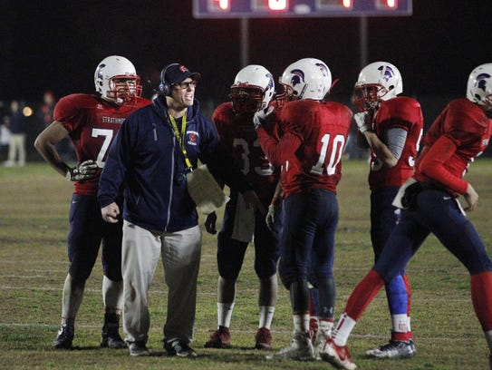 Strathmore's coach Jeromy Blackwell tries to rally