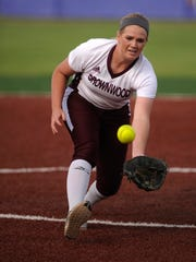 Brownwood pitcher Chyanne Ellett (15) runs down a short pop up for an out during a game last season.