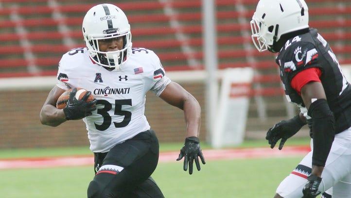 University of Cincinnati running back Taylor Boose
