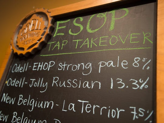 Odell Brewing Co. paid tribute to other breweries offering employee stock ownership plans by pouring their beers Wednesday in Fort Collins. Wednesday was the first time Odell had poured other brewers' beers in its taproom.