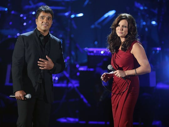 Luis Fonsi and Martina McBride team on Sept. 16, 2012,