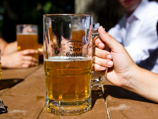 Beer is sold in pints and mugs at the Hubbard Park