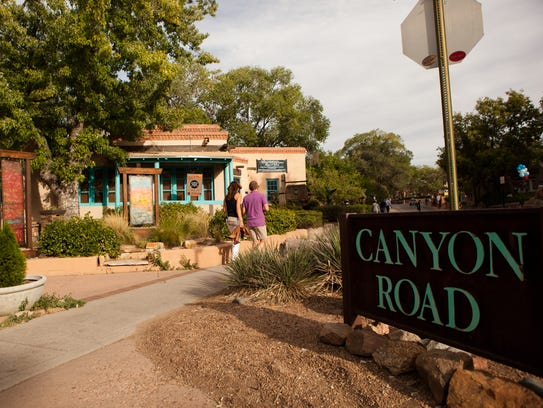 Canyon Road is a half-mile in the Historic District