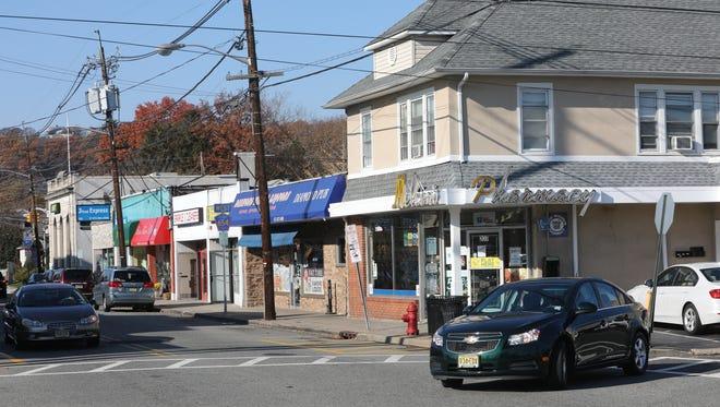 The Diamond Bridge Avenue area of downtown Hawthorne on Wednesday.