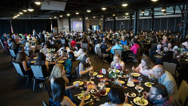 The Corpus Christi Independent School District's 2017 Academic Achievers Banquet at the Congressman Solomon P. Ortiz International Center on Thursday, May 25, 2017.