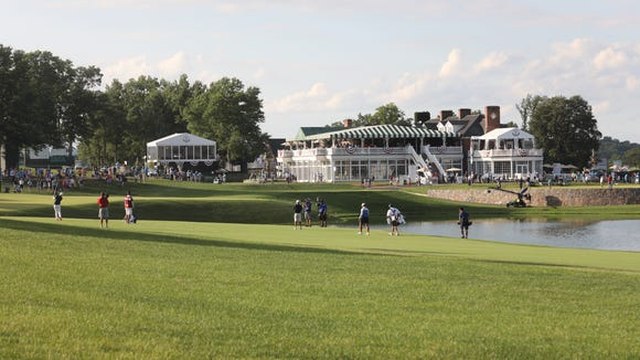 The clubhouse at Trump National was at one time owned by the late auto designer and manufacturer, John DeLorean. The 2022 PGA Championship is the next big event scheduled at Trump National.