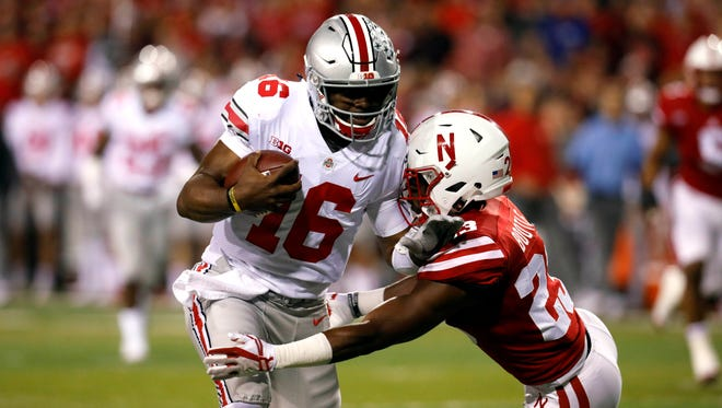 Ohio State quarterback J.T. Barrett accounted for seven touchdowns in Saturday's 56-14 win at Nebraska. In his last five games, since the loss to Oklahoma, Barrett has thrown for 18 TDs with no interceptions.