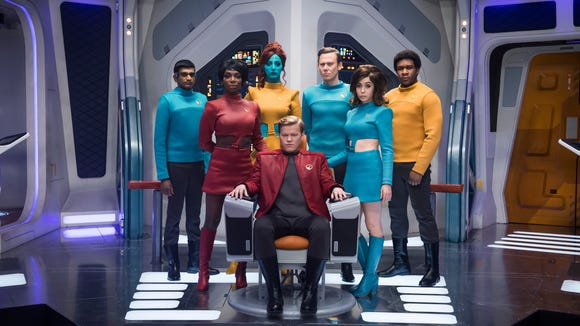 The cast of the 'USS Callister' episode of 'Black Mirror.'