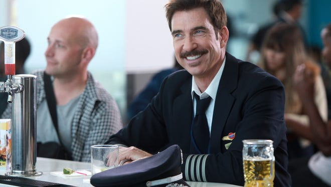 Charismatic, unpredictable Captain Dave (Dylan McDermott) bellies up the bar before boarding on Fox's 'LA to Vegas.' Uh-oh.