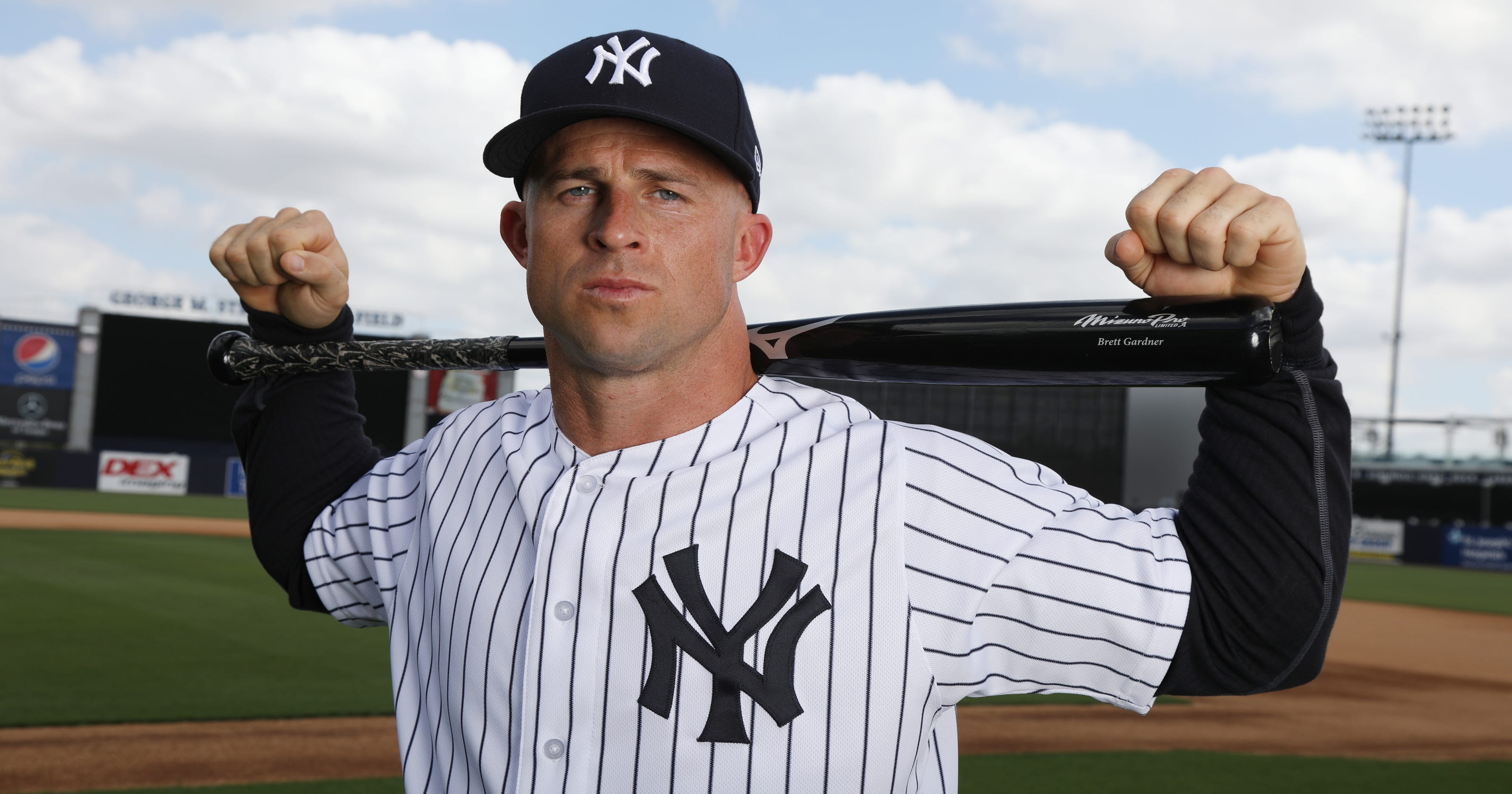 e6a273cd14b65 Popper  In lineup of Yankees sluggers Brett Gardner plays big