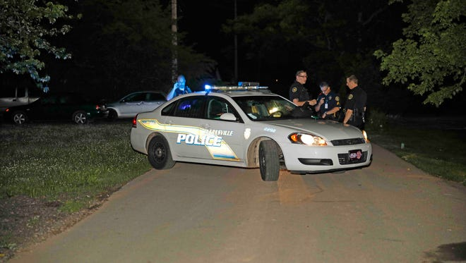 Clarksville Police investigate a homicide on Mitchell Street early Wednesday morning.