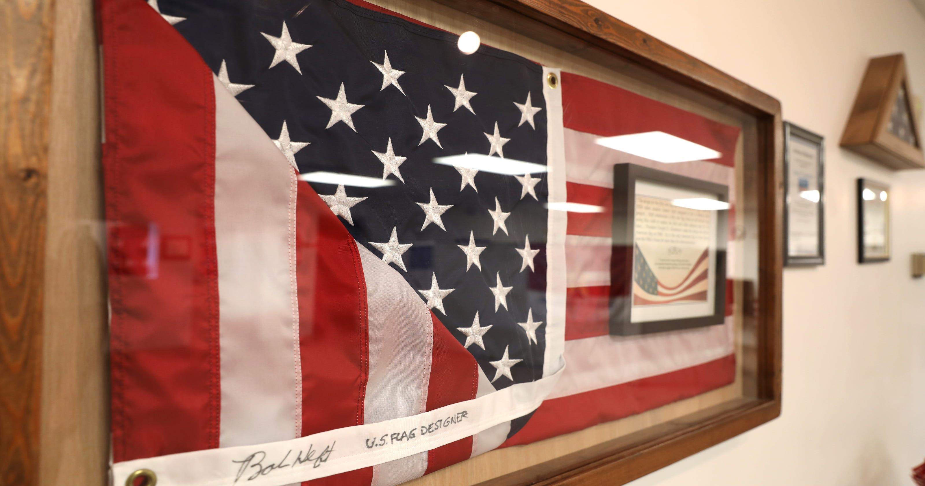 Lancaster boy's American flag design still stands for U S
