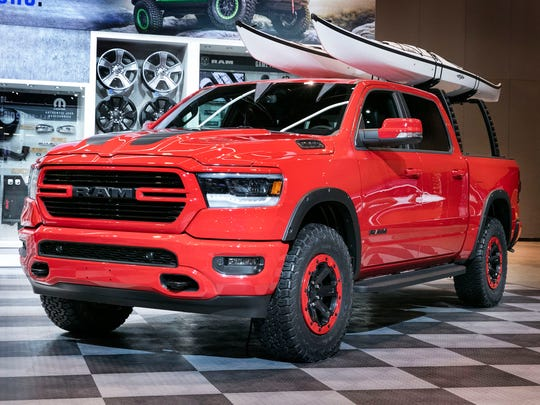 The 2019 Ram 1500 with modification by Mopar at the Chicago Auto Show in February 2018.