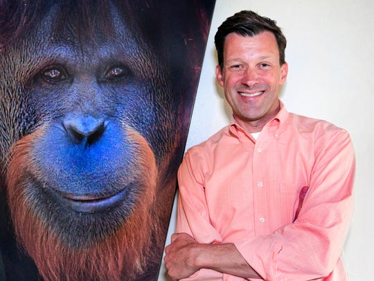Rob Shumaker, Indianapolis Zoo's vice president for conservation and life sciences, is shown on Friday, May 16, 2014 in the Simon Skjodt International Orangutan Center, which will open at the Zoo on Saturday, May 24.
