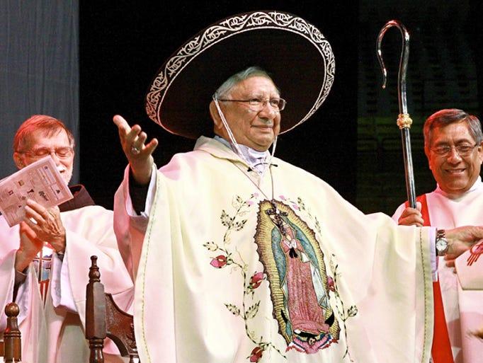 Bishop Ricardo Ramirez celebrated his 75th birthday