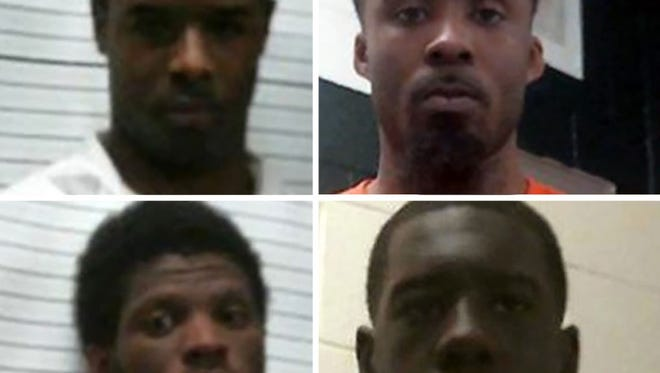 From top clockwise: LeAndrew Booker, Marquis Stevenson, Percy Bryant and Cordarius Thomas